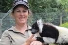 Hamilton Zoo curator Samantha Kudeweh picture supplie via facebook  https://www.facebook.com/hamiltoncitycouncil?fref=photo