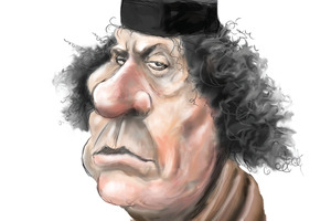 Muammar Gaddafi. Picture / Rod Emmerson