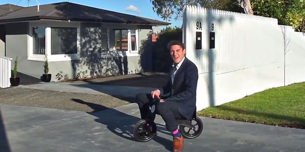 Brent Bastin doing his thing - making wacky real estate promo videos.