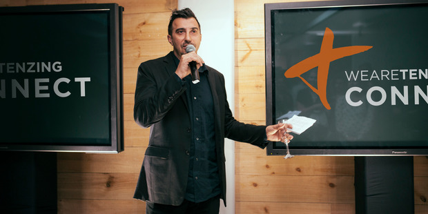 WeAreTenzing chief executive and co-founder Brooke Howard-Smith at the company's launch in Auckland last night. Photo / supplied.