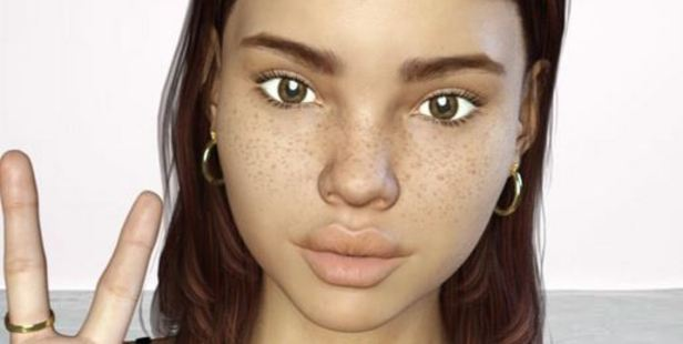 Many users can't decide if this is a real human or computer-generated art. Photo / @lilmiquela
