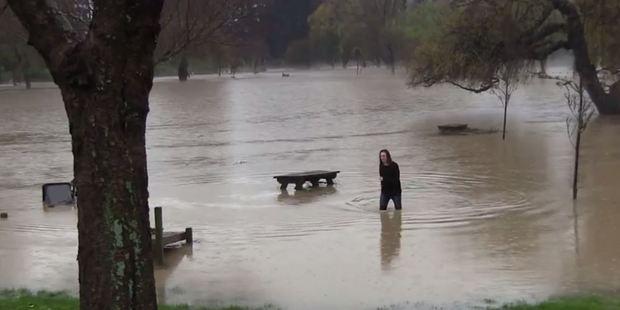 Flood in Otaihanga. Photo / NewsNewZealand