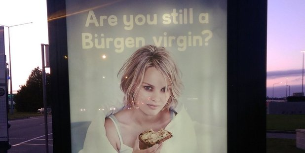 The Burgen bread ad that has caused a stir on social media. Photo / Twitter
