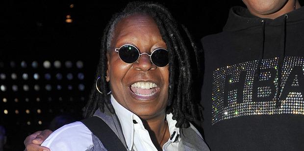 Whoopi Goldberg ... has no eyebrows. Photo / AP