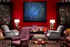 The fireside lobby in the Hotel Monaco Portland. Photo / Kimpton Hotels