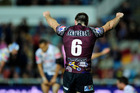 Kieran Foran was involved in a contentious incident as Manly knocked out North Queensland. Photo / Getty