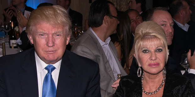 Donald Trump with Ivana Trump. Photo / Getty Images