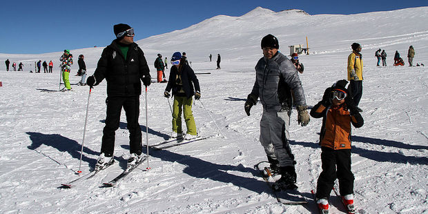 Skiing is a popular activity with wealthy Iranians, who flock to mountains like Alborz in Tehran. Photo / Getty Images