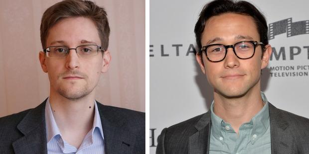 Actor Joseph Gordon-Levitt will play Edward Snowden (L) in a film biopic 'Snowden.' Photo / Getty
