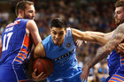 Shea Ili of the Breakers brings the ball up during a match against the Adelaide 36ers. Photo / Getty Images