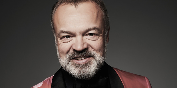 Graham Norton poses in the Portrait Studio during the 21st National Television Awards. Photo. Getty