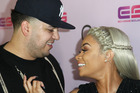 Rob Kardashian and Blac Chyna attends Birthday Celebration And Unveiling Of Her Chymoji Emoji Collection at Hard Rock Cafe. Photo / Getty