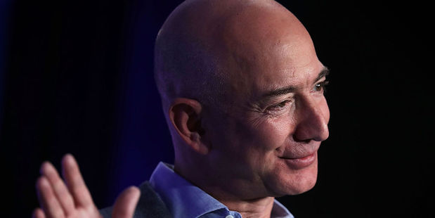 Jeff Bezos speaks about his grand ambitions for space. Photo / Getty Images