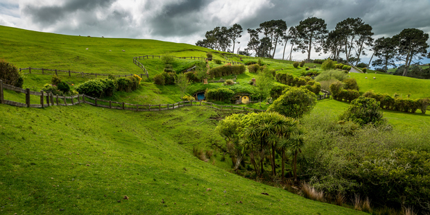 Landscape in Hobbiton in the Shire located in Matamata. Photo / Getty Images