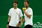Marcus Daniell and Michael Venus of New Zealand at the Rio Olympics. Photo / Getty Images