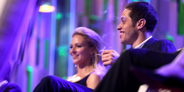 Recording artist Jewel and actor Pete Davidson onstage at The Comedy Central Roast of Rob Lowe at Sony Studios on August 27, 2016. Photo / Getty