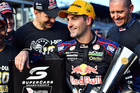 Jamie Whincup looks on after winning his 100th race. Photo / Getty Images