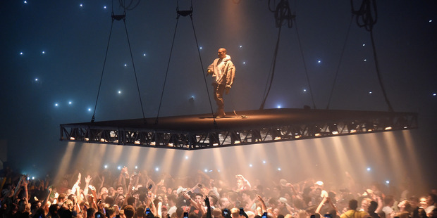 Kanye West performs during The Saint Pablo Tour. Photo / Getty