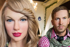 The wax figures of Taylor Swift and Calvin Harris, dressed in traditional Bavarian clothing, are displayed at Hofbraeuhaus Berlin. Photo / Getty Images