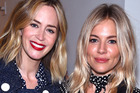 NEW YORK, NY - SEPTEMBER 14: Emily Blunt (L) and Sienna Miller attend the Michael Kors Spring 2017 Runway Show during New York Fashion Week at Spring Studios on September 14, 2016 in New York City.