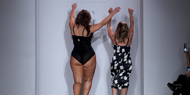 Model and designer Ashley Graham closes the Addition Elle show at New York Fashion Week. Photo / Getty