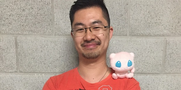 Jeremy Lai has loved all versions of the Pokemon game since it came out in the 1990s. PHOTO/supplied