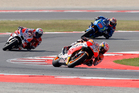Spain's Dani Pedrosa during the San Marino Moto GP grand prix at the Misano circuit. Photo / AP