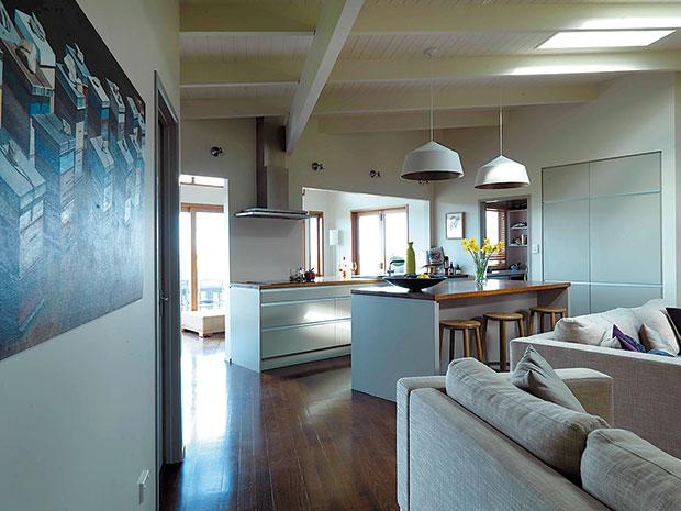 Inside Julia's weekend home. Photo / Jane Ussher