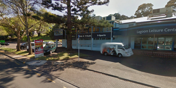 The woman was waiting for her son outside Lagoon Stadium, also known as the Panmure YMCA, about midday today. Photo / Google