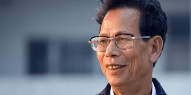 Lin Zuluan smiles in March 2012 after being elected village chief in Wukan. Photo / AP