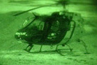 A woman was airlifted from Murupara using night vision goggles.  Photo/Supplied