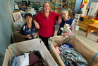 COMMUNITY: Salvation Army Family Store volunteers Mohney Hodge (left), Victoria Anderson and Katherine Foreman with some of the items for the Waiariki charity pop up shop. PHOTO/BEN FRASER