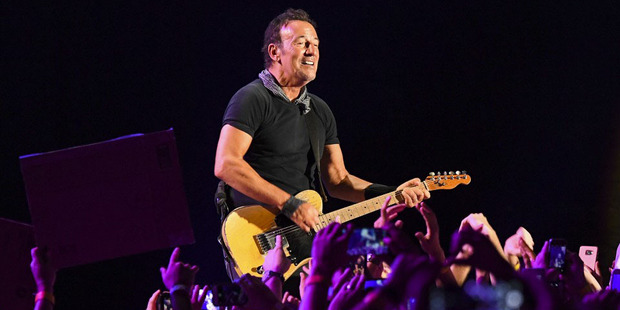 The Boss performs at full noise for three or more hours. Photo / Washington Post
