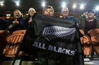 All Blacks fans at the All Blacks and Argentina Rugby Championship test match at Waikato Stadium in Hamilton. Photo / Jason Oxenham