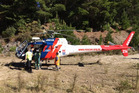 HELICOPTER: Rotorua's BayTrust Rescue Helicopter was sent to Iwitahi, south-east of Taupo, to retrieve a man who had fallen from his motorbike and fractured his leg this afternoon. PHOTO/SUPPLIED