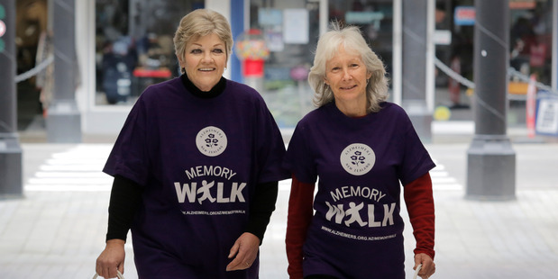 Wendy Paterson, left, and Sharon Winduss from Alzheimers Wanganui. PHOTO/BEVAN CONLEY