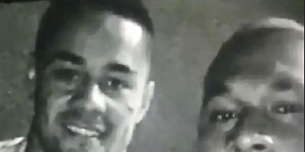 Loading Jarryd Hayne (left) pictured in a Snapchat video with alleged bikie Chris Bloomfield picture supplied.