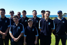 The Northland Junior golf team pose at their match-up against Auckland Juniors.