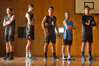 TOP FIVE: Western Heights High School volleyball players  Daniel Michael, 17 (left), Matthew Butterfield, 17, Kuratea Broughton, 17, Jon Newman, 18 and Billy Johnstone, 16, have all represented New Zealand this year. Photo/Ben Fraser