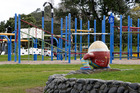 Humpty Dumpy has spent decades witnessing the ups and downs, fun and laughter at Tauranga's Memorial Park playground. Photograph/George Novak