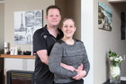 Funeral director Stephen McMahon and his bride, embalmer Christy Goodin, are set to get married this Saturday in Hamilton. Photo / Rhys Palmer