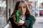 Tessa Olsson, 15, has concerns that the Cannabis Energy Drink is being marketed towards young people. Photo/Andrew Warner