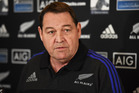 All Blacks Coach Steve Hansen during a press conference. Photo - Andrew Cornaga / www.Photosport.nz