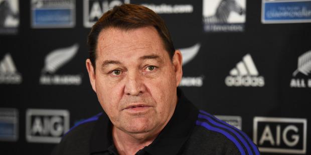 Loading All Blacks Coach Steve Hansen during a press conference. Photo - Andrew Cornaga / www.Photosport.nz