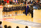 GAME: The Silver Ferns lined up for the anthems at the game against Jamaica on Wednesday in Palmerston North. PHOTO/FILE