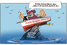 A serious clash is developing between the Govt and Iwi over the proposed Marine Park at the Kermadec Islands. Illustration / Rod Emmerson