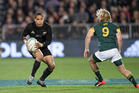 All Blacks halfback Aaron Smith in action against South Africa. Photo / Brett Phibbs