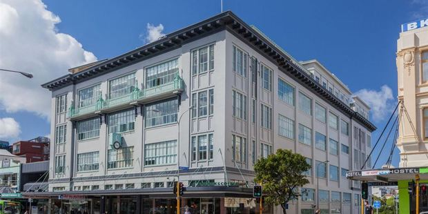 A penthouse atop George Court building on Karangahape Rd, Auckland, is for sale. Photo / Paul Davis