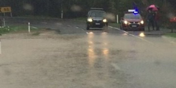 Flooding on Te Horo Rd on the Kapiti Coast yesterday. Photo/ Supplied