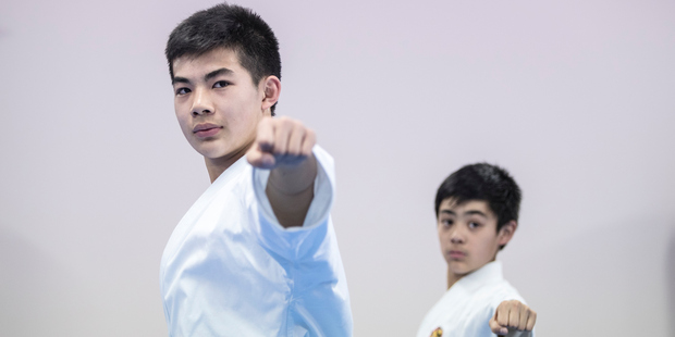 Luton Daniel Tham and his brother, Issac Tham. Daniel and Issac hope to represent NZ at the next Olympics in Japan. Photo / Michael Craig
